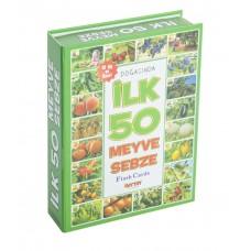 Diytoy İlk 50 Sebze ve Meyveler Flash Kartlar